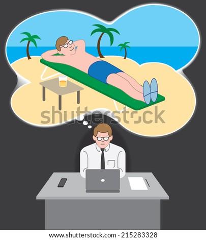 Vacation Daydream - stock vector
