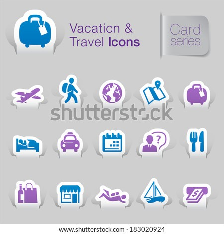 Vacation & travel related icons. - stock vector