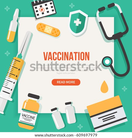 vaccination concept poster text place vector stock vector royalty free 609697979 shutterstock. Black Bedroom Furniture Sets. Home Design Ideas