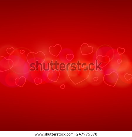 Valentin`s Day Card with Hearts. Vector illustration. - stock vector