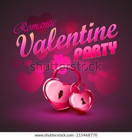 Valentine background - stock vector