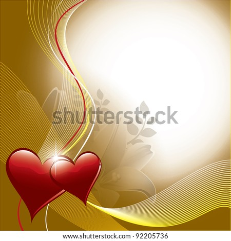 Valentine Background. Hearts. Vector Eps10. - stock vector