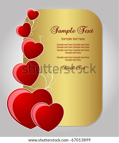 valentine background or card - stock vector
