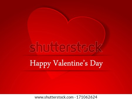 Valentine beautiful background template with heart. Vector illustration