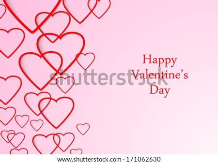 Valentine beautiful background with hearts. Vector illustration