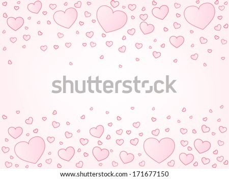 Valentine card hearts vector illustration background with copyspace - stock vector