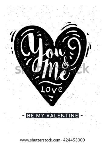Valentine card. Love Calligraphy. heart lettering vector text isolated.