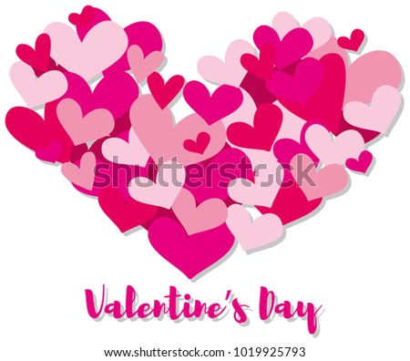 Valentine card template pink hearts illustration stock vector valentine card template with pink hearts illustration pronofoot35fo Choice Image