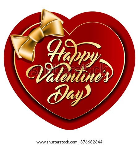Valentine card with the inscription - stock vector