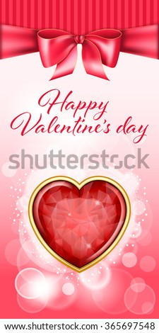 Valentine day backgroung - stock vector