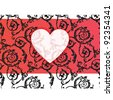 Valentine day's greeting card's design with heart - stock vector
