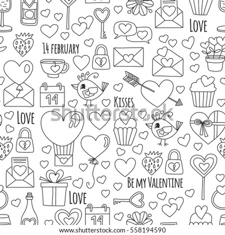 Valentine Day Vector Pattern Heart Cake Stock Photo (Photo, Vector ...