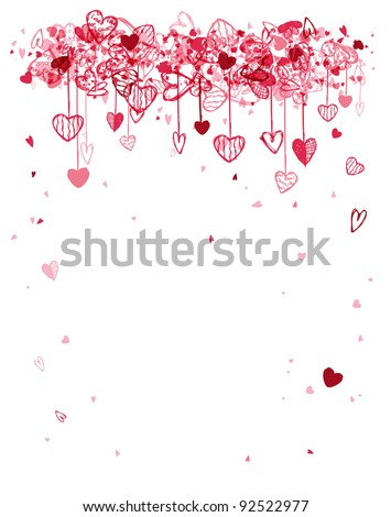 Valentine frame design with space for your text - stock vector