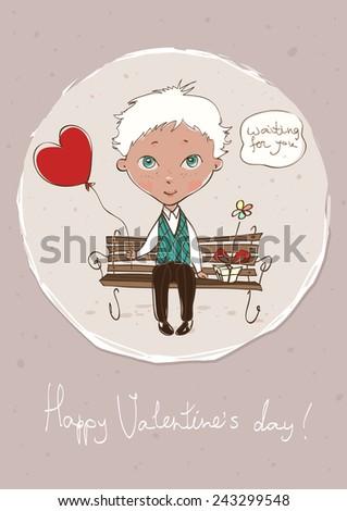 Valentine Greeting Card Design - stock vector