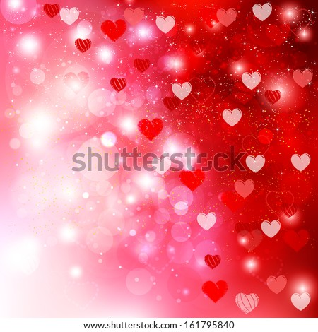 Valentine heart background - stock vector