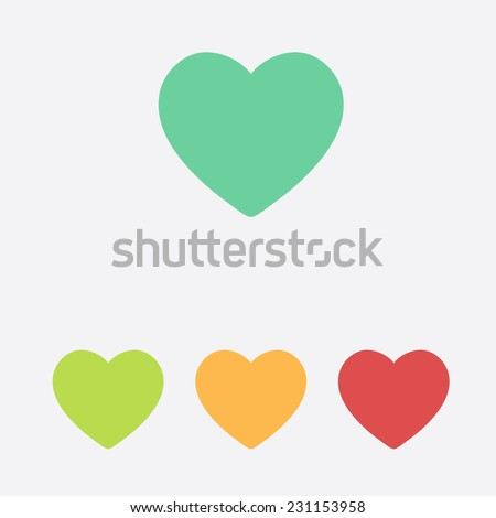 Valentine heart simbol. - stock vector