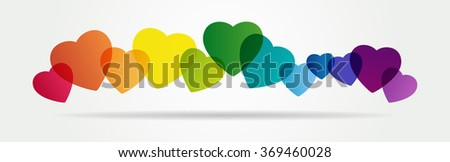 Valentine Hearts Abstract Background. . File is saved in AI10 EPS version. This illustration contains a transparency  - stock vector