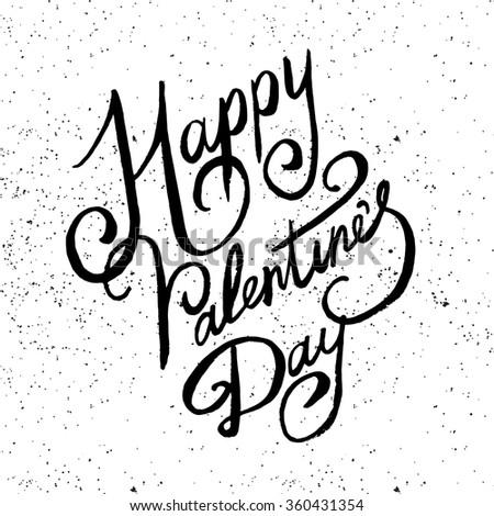 Valentine Lettering vector - stock vector