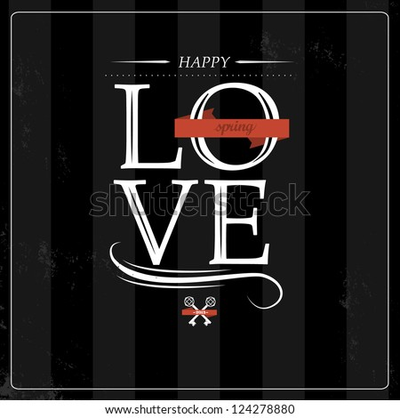 Valentine Love gift card with black background