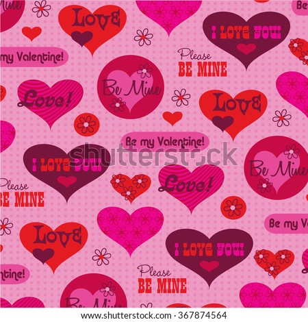 valentine message pattern