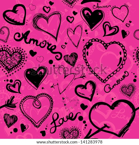 Valentine pattern - stock vector