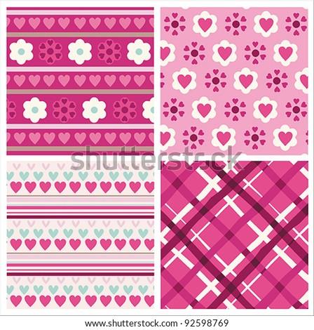 Valentine Pattern Design - stock vector