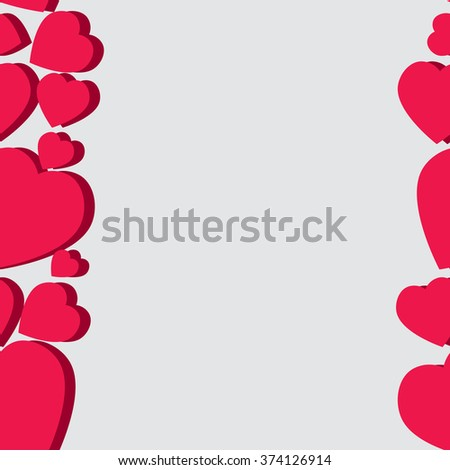 Valentine pattern. Seamless texture with hearts. Valentines day vector. Flat style background for invitation. - stock vector