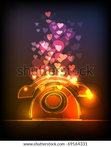 """valentine phone """"made of light"""" collection - stock vector"""
