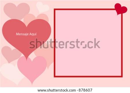 Valentine photo card - stock vector