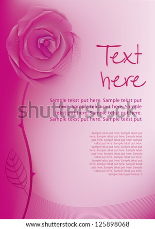 Valentine Rose background with text new layer
