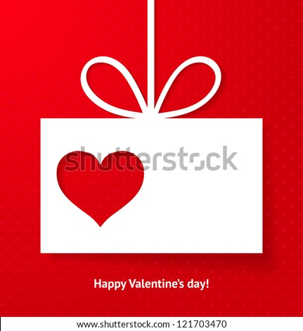 Valentine's applique card/background. Vector illustration for your design. - stock vector