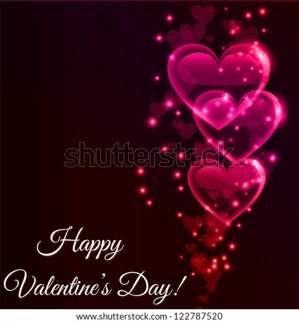 Valentine's background - stock vector