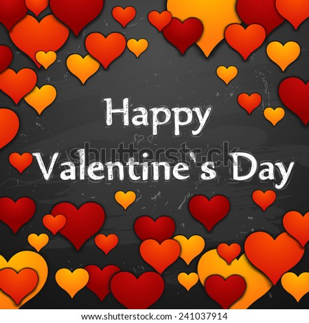 valentine`s card with heart - stock vector