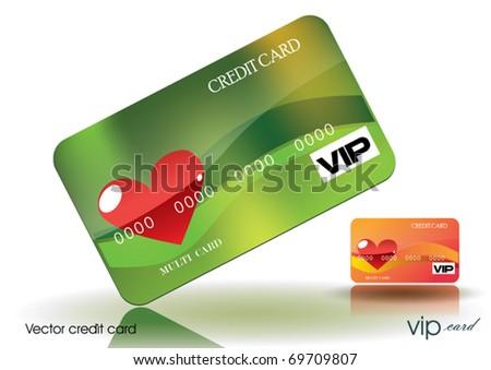 Valentine's Credit Card - stock vector