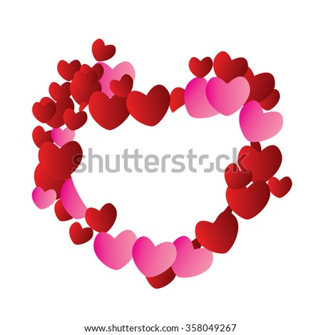 Valentine's day abstract background with heart. Vector illustration