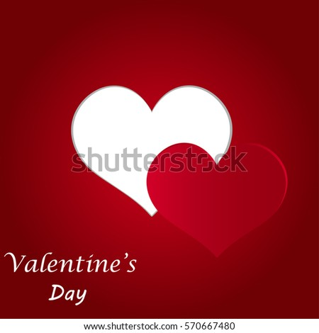 Valentine's Day background. Paper heart Vector illustration