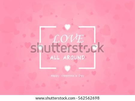 Valentine's Day background vector EPS10