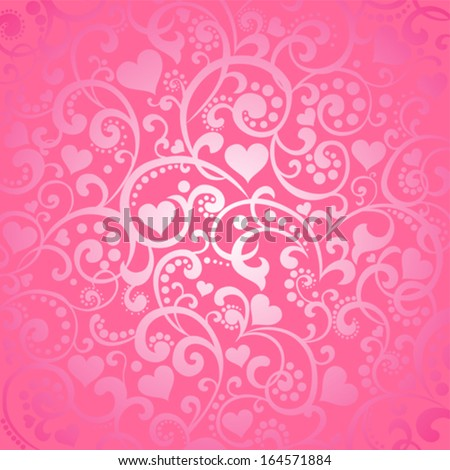Valentine's day background with hearts. Vector illustration  - stock vector