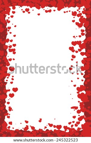 Valentineu0027s Day Border With Hearts