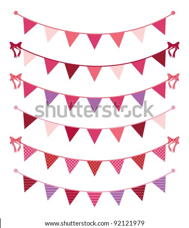 Valentine's Day Bunting - stock vector