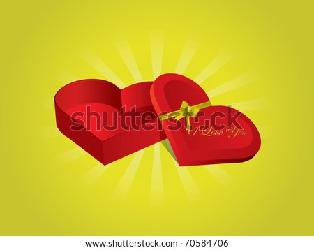 Valentine's Day Candy box - stock vector
