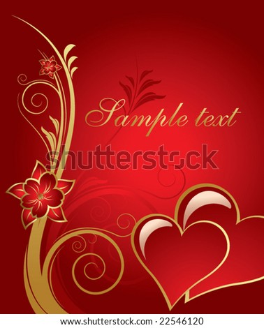 Valentine's day card background vector - stock vector