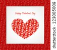 Valentine's day card.Can be used for packaging,invitations, Valentine's Day decoration. - stock vector