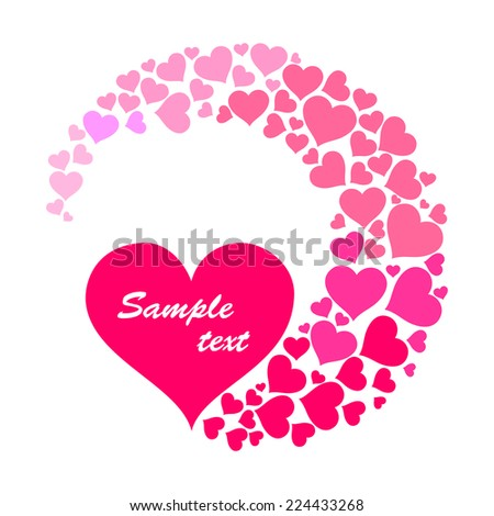 Valentine's day card. Celebration background with heart and place for your text. Vector Illustration  - stock vector