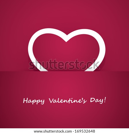 Heart Paper Valentines Day Card Vector Vector 92210659 – Valentines Day Cards Design