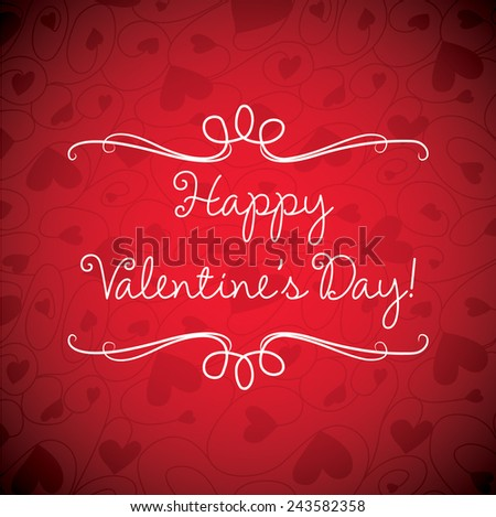 Valentine's Day card in vector format. - stock vector
