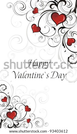 Valentine`s Day Card. Vector