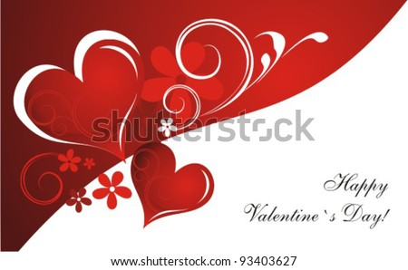 Valentine`s Day Card. Vector - stock vector