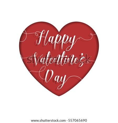 Valentine's Day card with decorative cutout text design