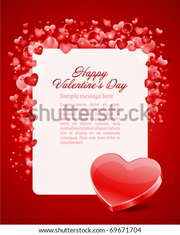 Valentine's day card with heart vector background